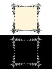 Square ornamental frames