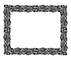 Square ornamental frame in black