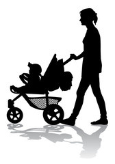 Mother with child on walk