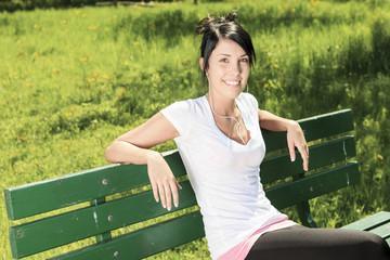 Portrait  woman outdoors