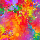 Abstract colorful splash & watercolor background.