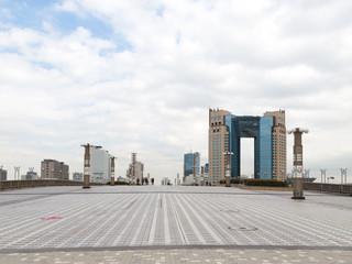 large pedestrian area