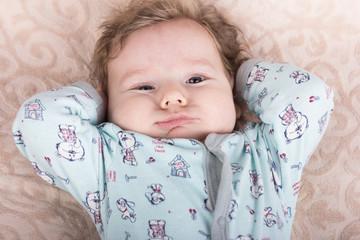 The baby wants to sleep