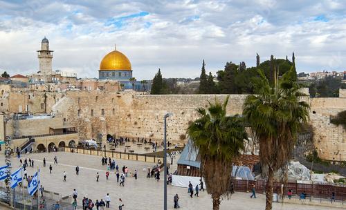 Fotobehang Midden Oosten Western Wall also known as Wailing Wall or Kotel in Jerusalem