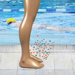 Fuß Bakterien Baden - 3d Render