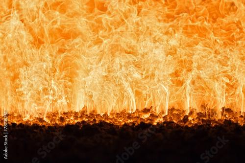 In de dag Vuur / Vlam Coal fire inside steam boiler