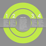 Vector circle infographic. Template for diagram, graph