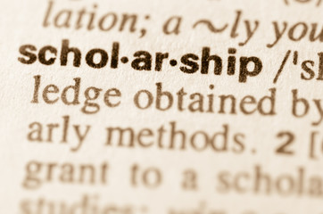 Dictionary definition of word scholarship