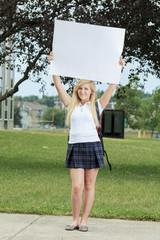 teenage girls having fun outdoors