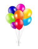 Fototapety Set of Colored Balloons, Vector Illustration.