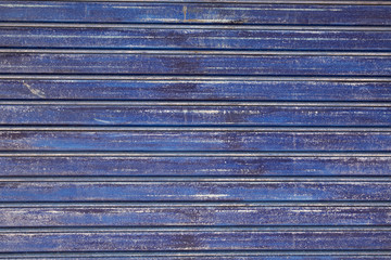 Old galvanized blue steel