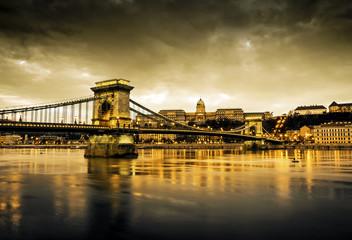 Szechenyi Chain Bridge and Royal Palace, Budapest