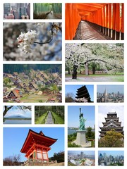 Japan travel. Photo collage.
