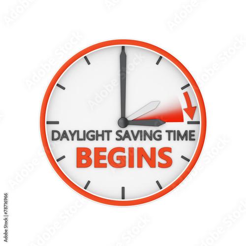 Leinwandbild Motiv daylight saving time