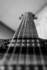 an abstract portrait of a guitar
