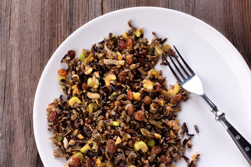 Cooked Wild Rice Cereal