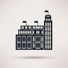 Customs building. Vector icons in a flat style.