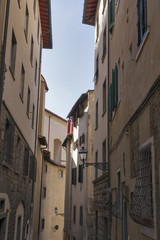Florence medieval narrow street