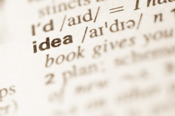 Dictionary definition of word idea