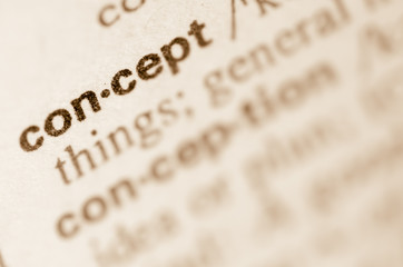Dictionary definition of word concept