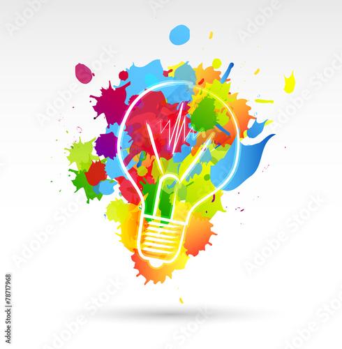 lampadina, idea, colori, creatività, idee © MG