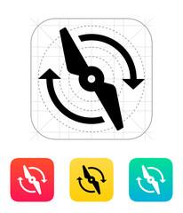 Rotor rotating icon.