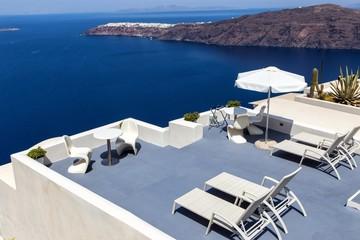 Panorama terrace above Santorini caldera