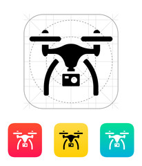 Drone with camera icon.