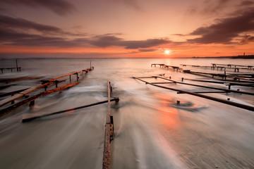 Sunset near Fishing Village