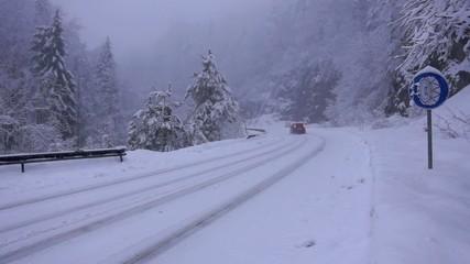 Winter Driving Snow Blizzard