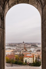 View from the castle in Budapest over to the city centre