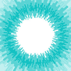 Round frame - Abstract geometric pattern with melted strokes