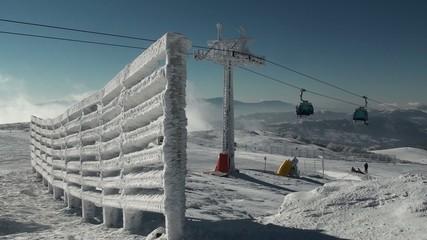 Ski resort in Stara Planina with a gondola