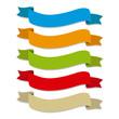 Cintas de colores onduladas, etiquetas para titulos