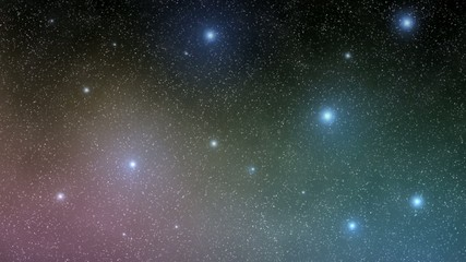starfield sky in the night with nebula