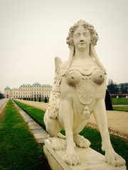 sculpture in belvedere palace