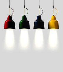 Lampade da soffitto colorate