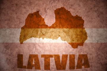 vintage latvia flag