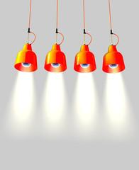 Lampade da soffitto arancioni