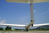Segelflugzeug kurz vor Abflug
