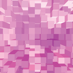 Bright Abstract Pink Geometric Square 3D Diagram Bar Bricks