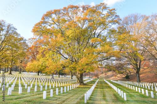 Washington DC - Arlington National Cemetery in Autumn - 78722939