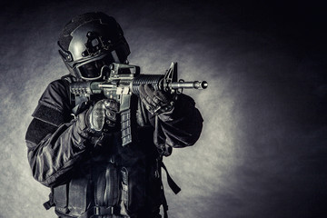 Spec ops police officer SWAT