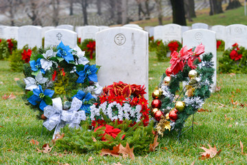Mother's headstone in Arlington National Cemetery