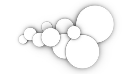 the background with circles on a white background