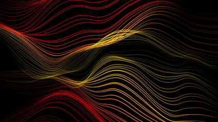 abstract background animation - wavy strings (loopable)