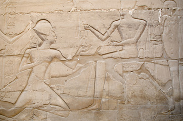 Relief  in Precinct of Amun-Re  (Karnak, Luxor, Egypt)