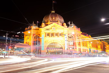 Finders Street Station in Melbourne, Australia