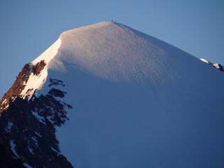 Alpinistes au sommet de l'Aiguille de la Lée Blanche - 3697m