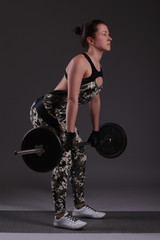 fitness girl liftings weights